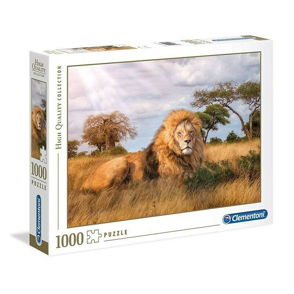 Clementoni 1000 Pieces Puzzles Design Design The King From The Jungle 69x50cm