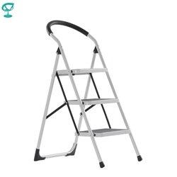 95666 Barneo ST-33 Ladder Staal 3 stage Wit enkelzijdig max belasting 150 kg gratis verzending naar Rusland