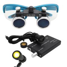 2.5X/3.5X lente di Ingrandimento Dentale Dental Lab Medical lente di Ingrandimento di Ingrandimento Dentale Set con 5W Faro Filtro