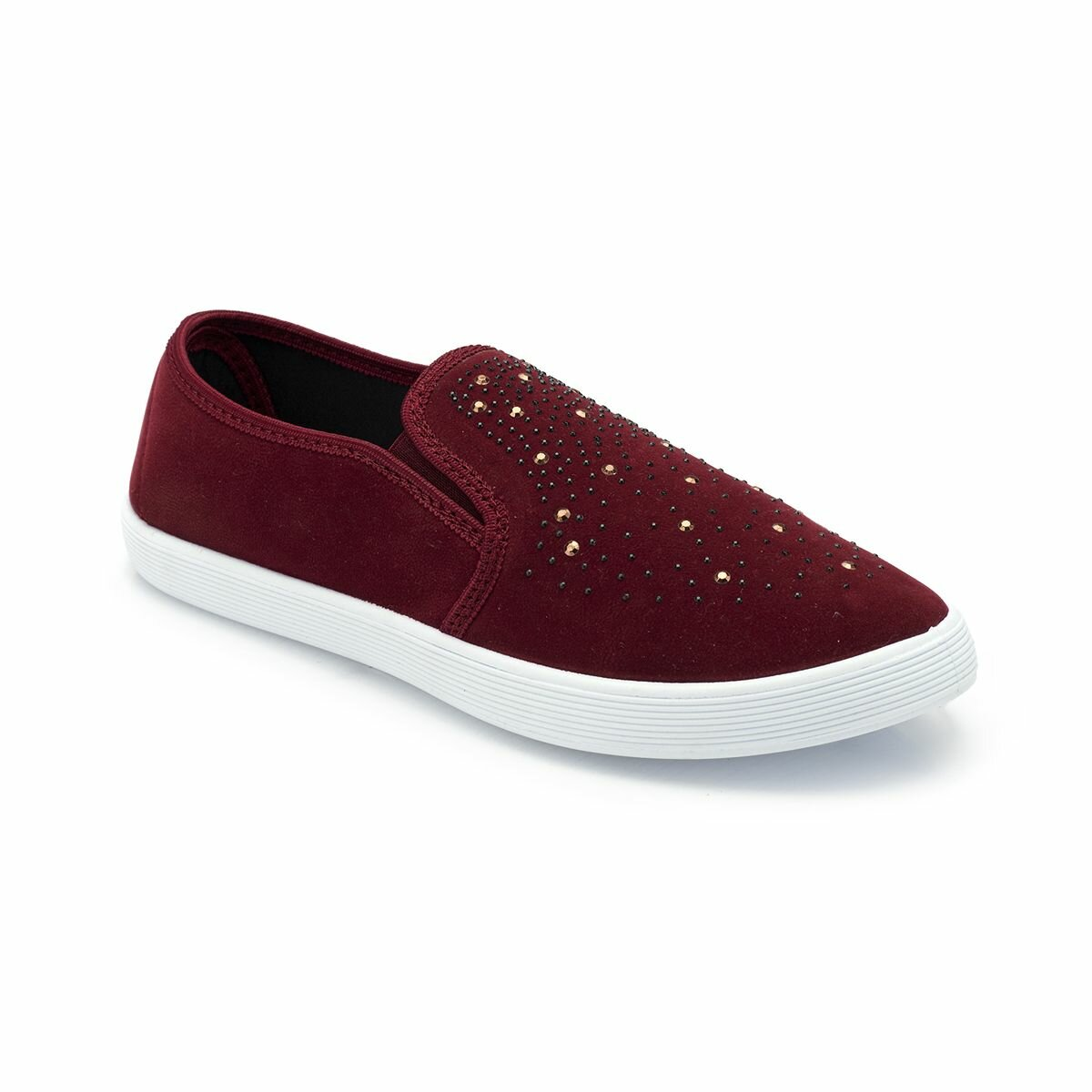 FLO 82. 311070.Z Burgundy Women Slip On Shoes Polaris