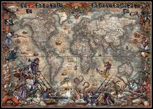 العتيقة خريطة العالم عد عبر عدة خياطة DIY اليدوية التطريز للتطريز 14 ct الصليب الابره مجموعات DMC اللون