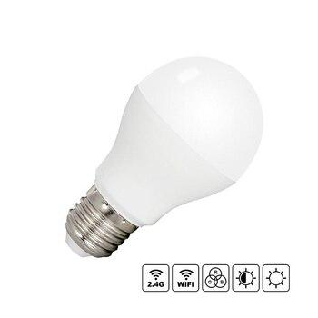 Bóng đèn LED E27 6 W RGB + CCT RF 2,4 GHz Fut014