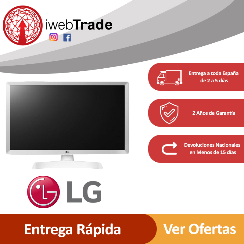 "Televisor Smart TV LG 24"" HD LED WiFi Blanco iWebTrade Television 24TL510SWZ"