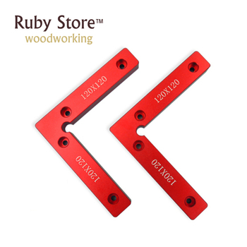 New 1 Pair(2pcs) 120mm x 120mm(100mm 100mm) L-Squre Clamping Squares Pair 90 Degree Try Square Angle Ruler
