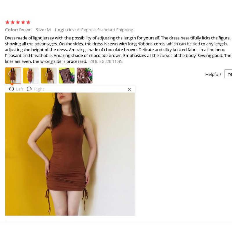 Hiriginリブミニドレス女性オフショルダーのセクシーなパーティーoネック巾着ニットクラブタンクボディコンショート女性の夏ドレス