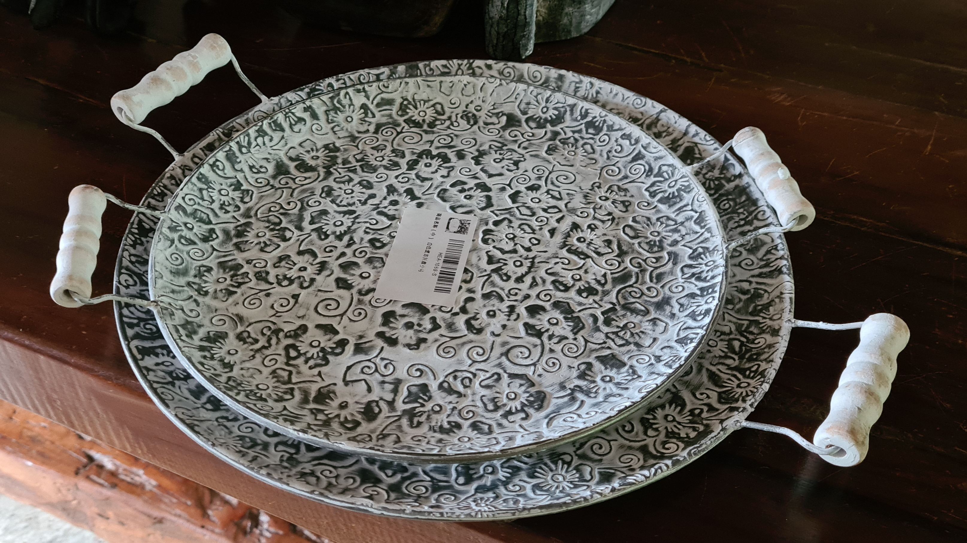 Retro Handcrafted Round Metal Plate photo review
