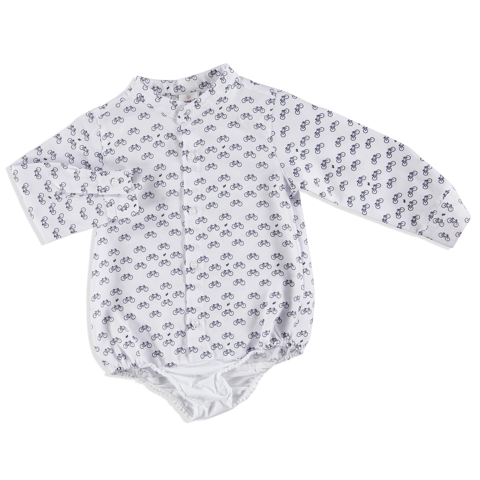 Ebebek Bombili Winter Bike Printed Baby Boy Shirt Bodysuit
