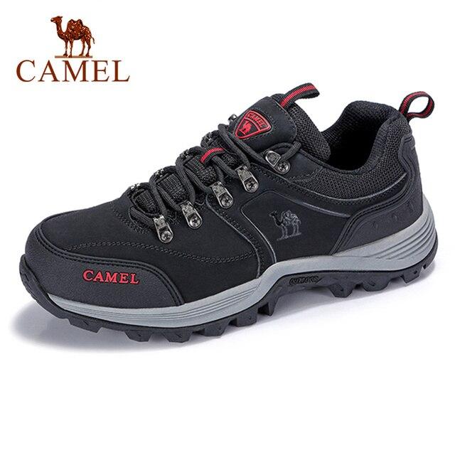 Uomini CAMEL Scarpe Da Trekking Allaria Aperta In Pelle Anti skid Traspirabilità e comfort di Alta Qualità di Mountain Arrampicata Trekking scarpe Da Trekking Scarpe Da Ginnastica