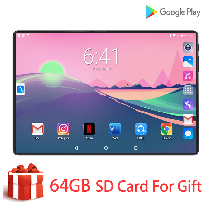2020 globale Version <font><b>10</b></font> zoll <font><b>tablet</b></font> PC 6GB RAM 128GB ROM 1280*800 IPS Dual SIM Karte 3G 4G LTE FDD Wifi Android 8.0 <font><b>tablet</b></font> <font><b>10</b></font>,1 image
