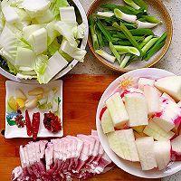 此季节最馋人的㊙️五花肉炖萝卜白菜的做法图解2