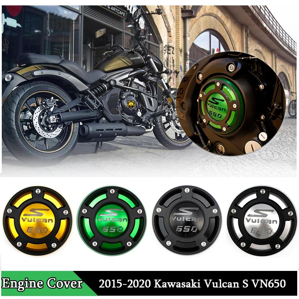 Black CNC Aluminum Right Engine Cover Protector for 2015 2016 2017 2018 2019 Kawasaki Vulcan S VN EN 650 ABS