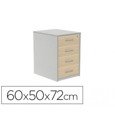 DRAWER ROCADA WITH FOUR DRAWERS SERIALS STORE 60X50X72 CM FINISH AB02 ALUMINUM/GRAY