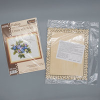 Set for embroidery and decoration of 'gifts of nature. Blueberry Garden 'with a frame, MP Studio