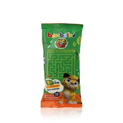 Детские влажные салфетки Bambolina Лео и Тиг без запаха 15шт