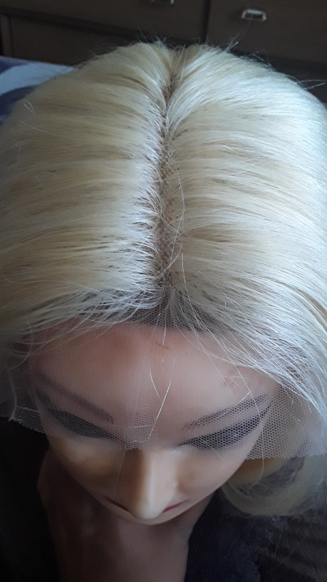 Blonde Human Hair Wigs Pre Plucked Brazilian Remy Hair 13x1 T Part Wig 613 straight lace wig for black Women photo review