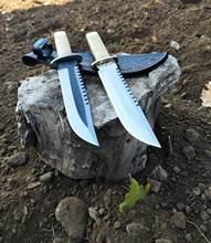 El yapımı dövme kamp kamp bıçağı bushcraft survival avcı bıçaksever keskin dayanıklı kaliteli rambo
