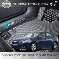 Car Mats EVA on Chevrolet Cruze I 2009 - 2015 +Restyling set of 4x mats and jumper tunnel/Eva car Mats car