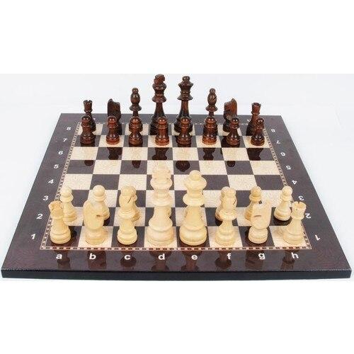 Lux haut Grade raffiné en bois pliant grand jeu d'échecs dames en bois massif érable échiquier divertissement jeu de société enfants cadeau 1