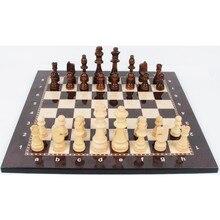 Изысканный деревянные шахматы складной большой шашки твердой древесины клена шахматная доска развлечение настольная игра Детский подарок