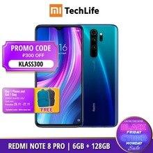 Versão global xiaomi redmi note 8 pro 128gb rom 6gb ram (novo/selado) nota 8 pro, note8pro, note8 smartphone móvel