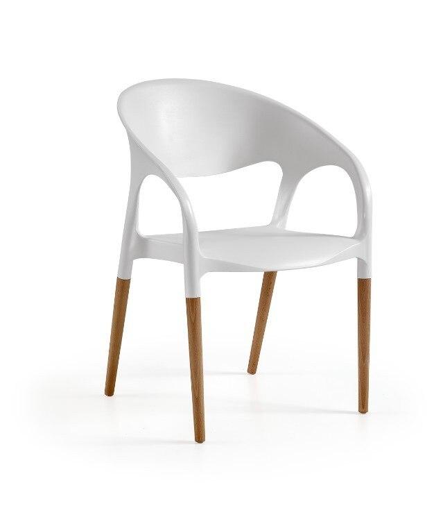 Armchair MOON Wood White Polypropylene