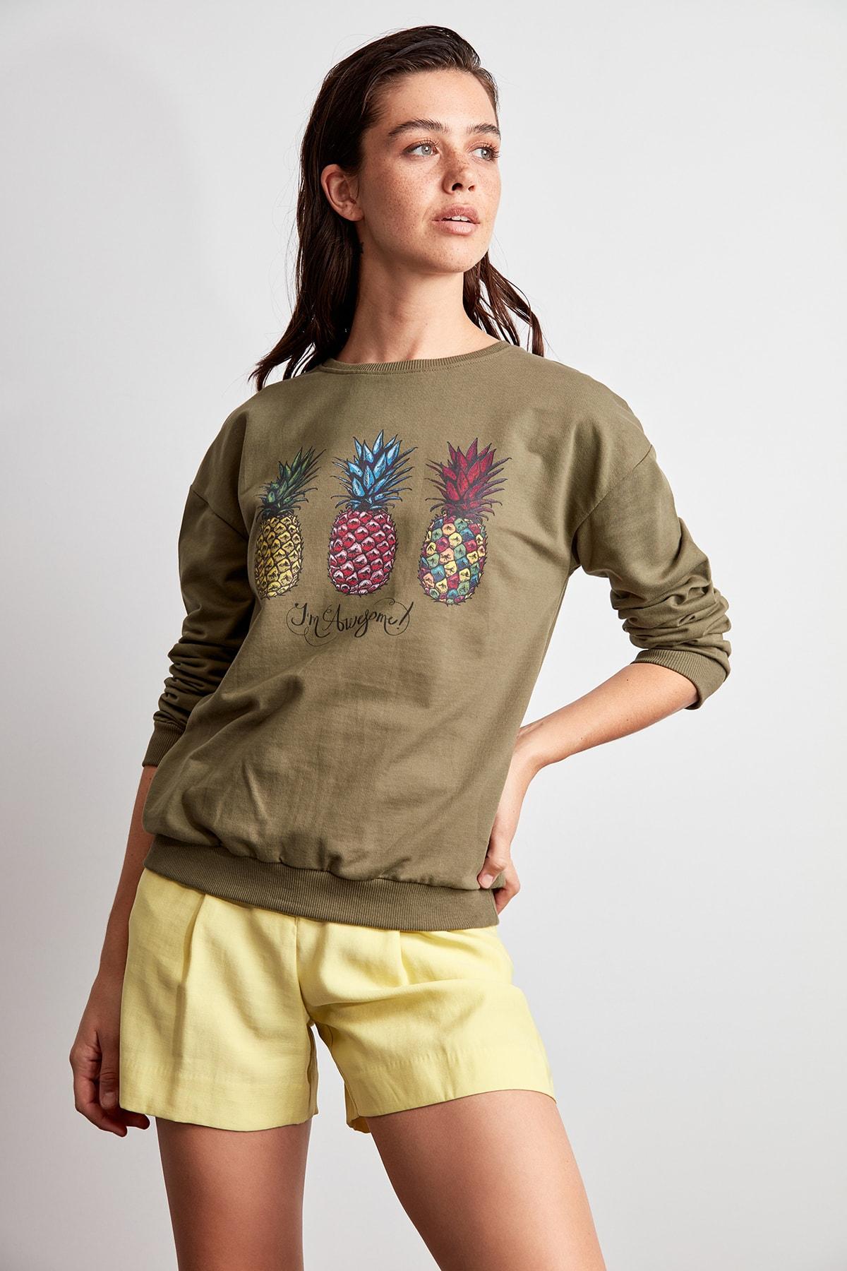 Trendyol Printed Knitted Sweatshirt TWOAW20SW0639
