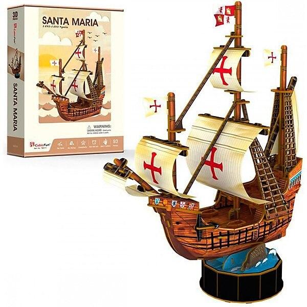 3D puzzle CubicFun Ship Santa Maria 4pcs girl set cubicfun 3d educational puzzle paper