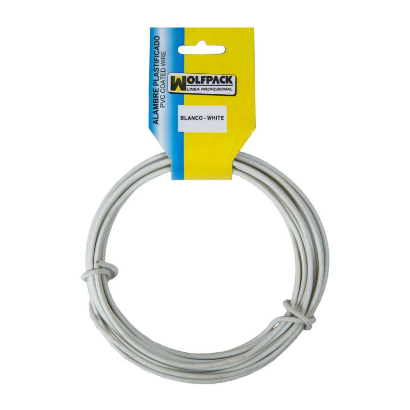 Plastic Wire (Roll 5 Meters) White NO. 16/2.7mm