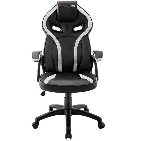 Chair Gamer Mars Gaming Mgc118bw Black Color With Detail In White Up Seat Recliner Recubrimento Pu High Quality