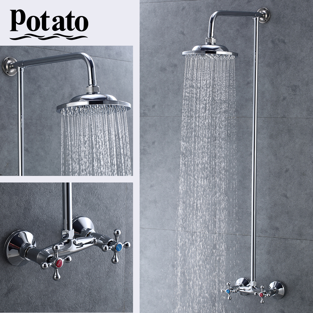 Potato Shower Set Bathroom Shower Faucet Economic Type Faucet Bath Taps Rainfall Shower Head Mixer Bathtub P3565 Buy At The Price Of 28 54 In Aliexpress Com Imall Com