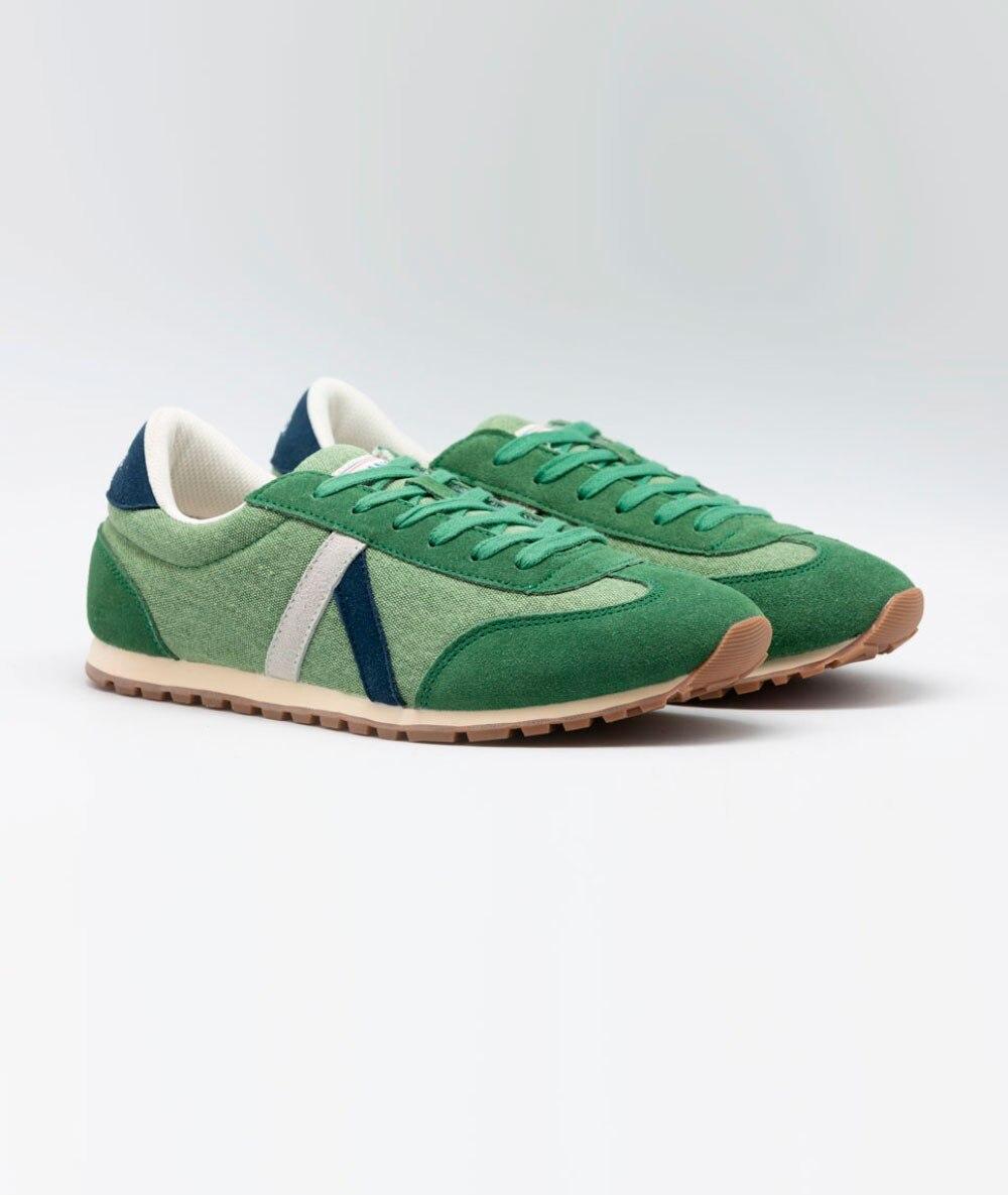 Zapatilla El Ganso® Running Washed Verde De Marca Originales Vintage de Hombre Caballero retro - 3