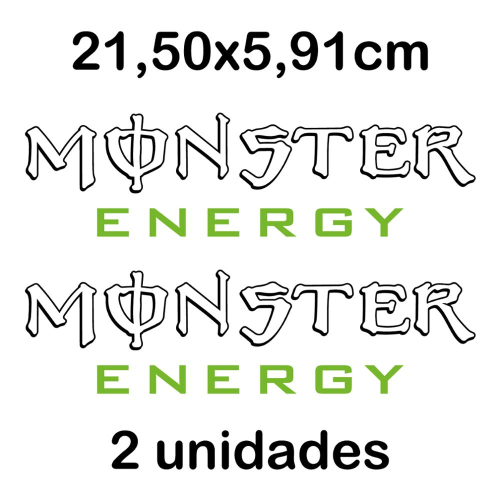2X PEGATINA NOMBRE MONSTER ENERGY VINILO STICKER DECAL AUTOCOLLANT LOGO 21 Cm