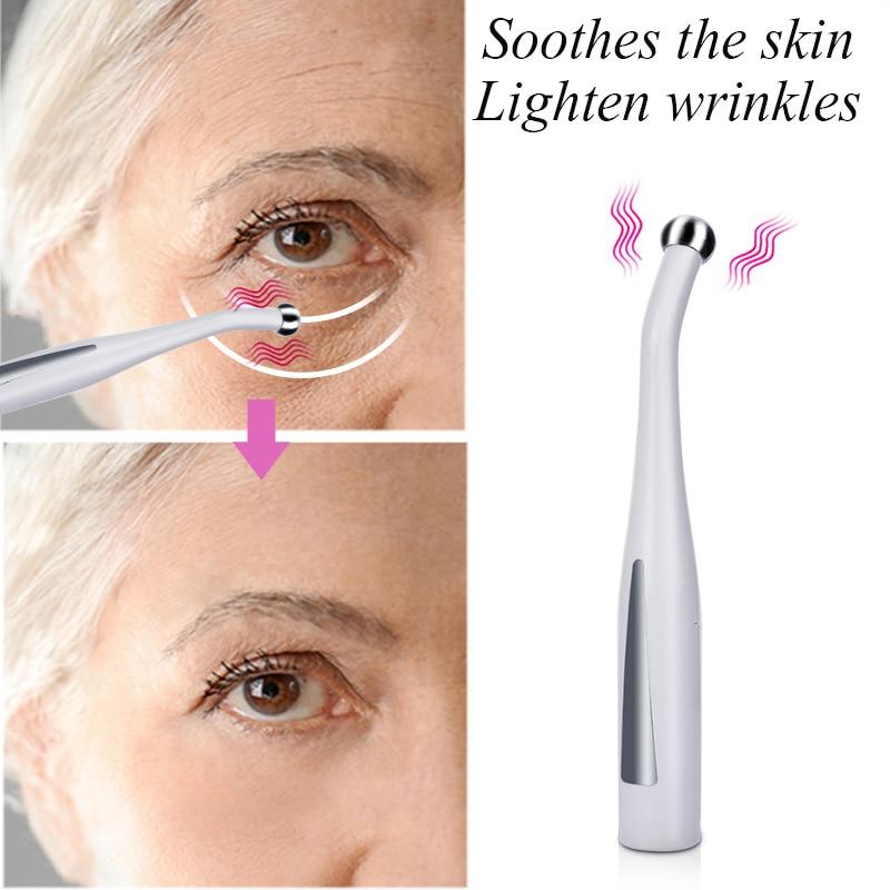 2 в 1 Электрический массажер для глаз, антивозрастной, для морщин, для снятия морщин с глаз, микротоковый массаж, отрицательные ионы, устройст...