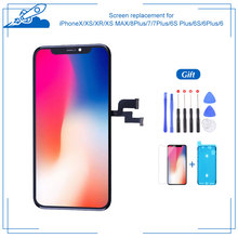 Full Assembly For iPhone X XS XS MAX 6 6Plus 6S 6S Plus 7 7Plus 8 8Plus LCD Touch Screen OLED Display Digitizer Assembly Parts 5d full cover soft hydrogel film for iphone 8 7 6 6s plus screen protector film for iphone xs max xr x 8 plus protective film
