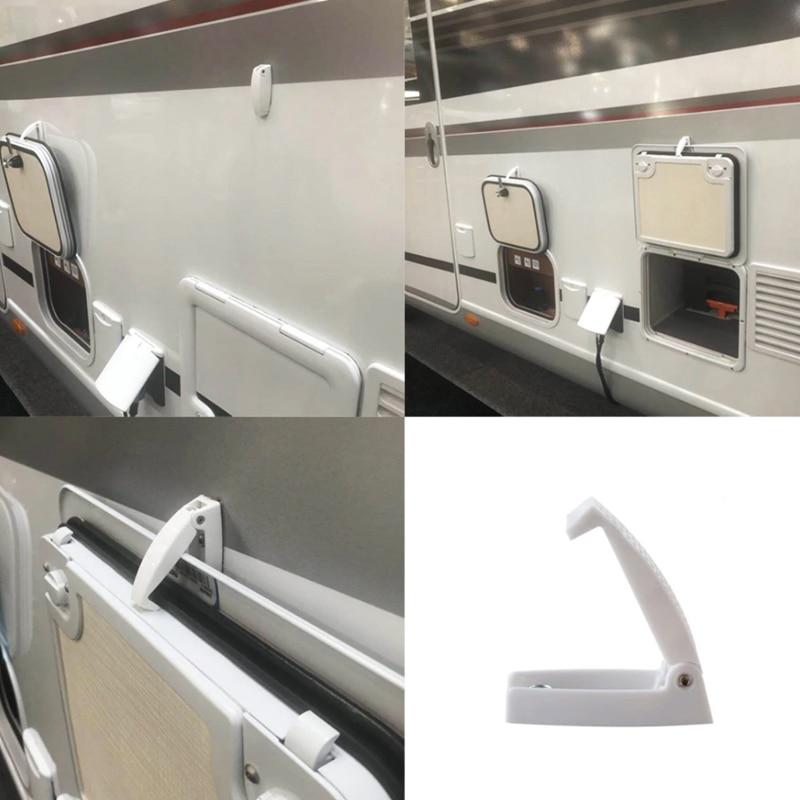 RV Baggage Door Catch Hook, White Door Holders For RV, Trailer, Camper, Motorhome Baggage Doors