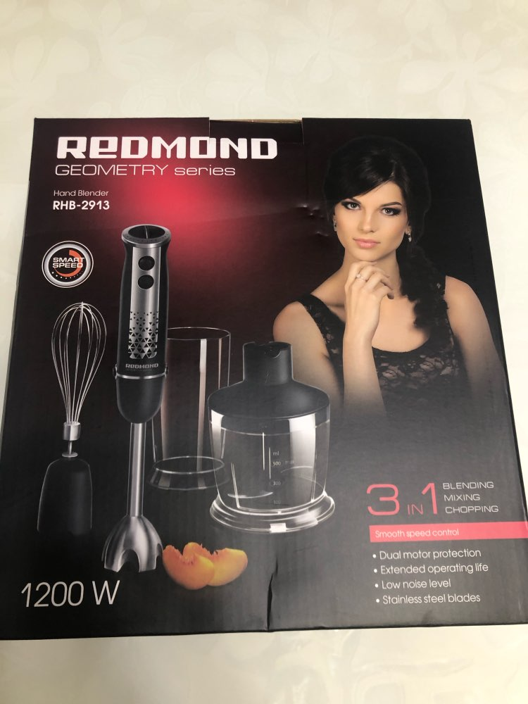 Blender submersible REDMOND RHB 2913 immersion with wisk chopper Shredder machine Household appliances for kitchen smoothies|Blenders| |  - AliExpress