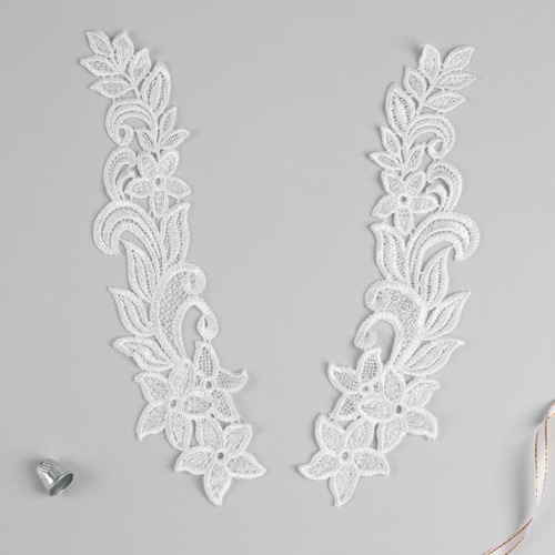 3557533 Appliques Sewing Lais Polyester 30*6,5 Cm White