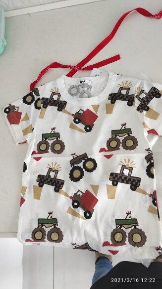 Children T-shirt for Boy Summer Animal Print Dinosaur Boys T Shirt for Girls Tops Cartoon Kids t shirt Casual Clothes 1-8 Yrs photo review