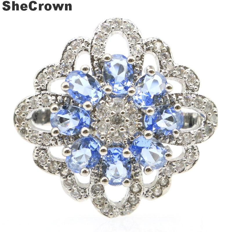 30x30mm Beautiful Round Shape Pink Tourmaline Woman/'s Wedding Silver Ring Us 8#