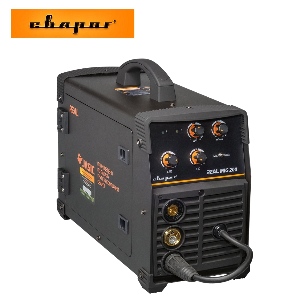 Welding Inverter Svarog REAL MIG 200 (N24002N) BLACK Hot Metal Welding Machine Building Tool Repair