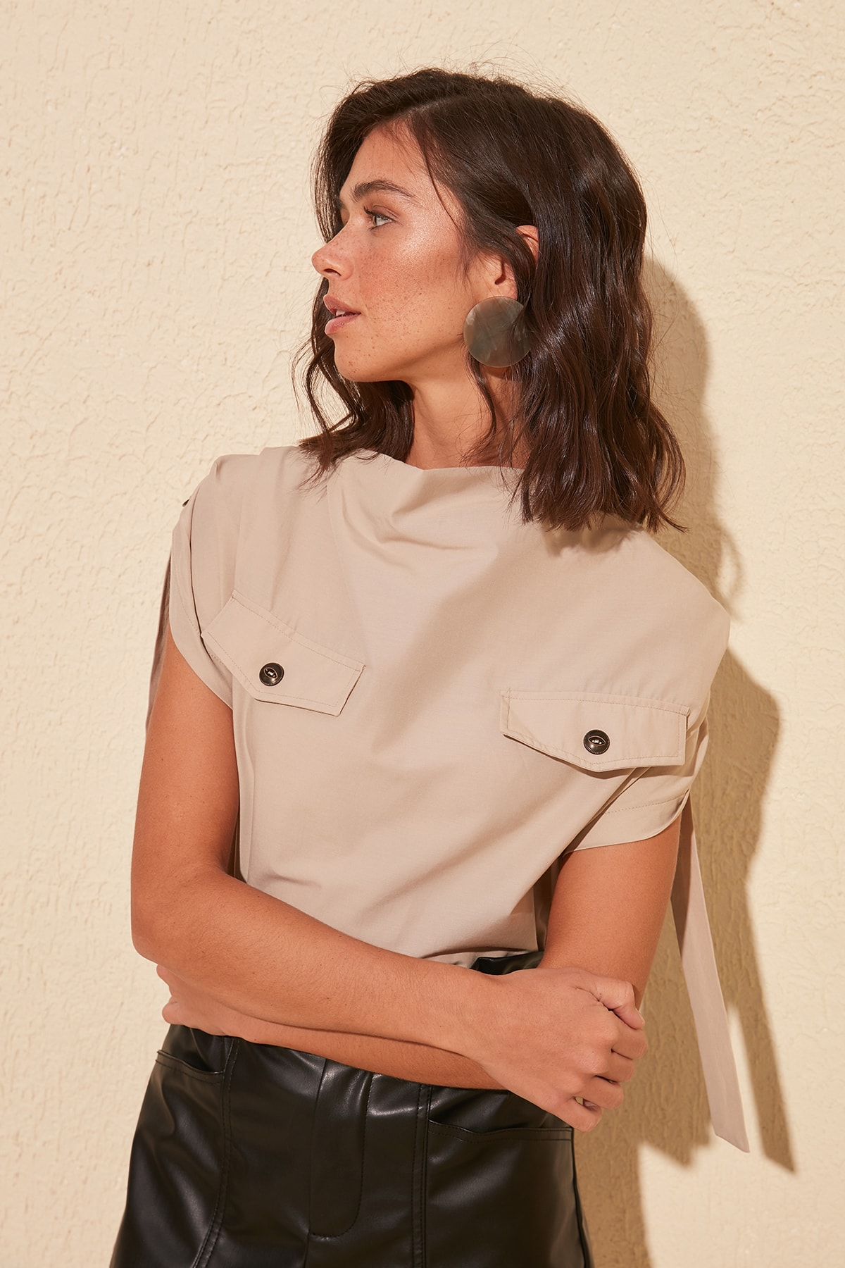 Trendyol Blouse With Pockets TWOSS20BZ0876