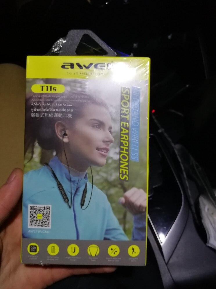 AWEI T11 Wireless Headphones T11S Bluetooth Earphone Headset For Phones Neckband Sport 3D Bass Headphone With Mic fone de ouvido|fone de ouvido|wireless headphone bluetooth earphone|bluetooth earphone - AliExpress