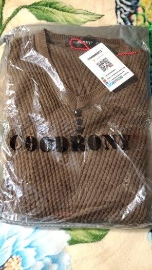 T-shirt maillé manches longues COODRONY col en V