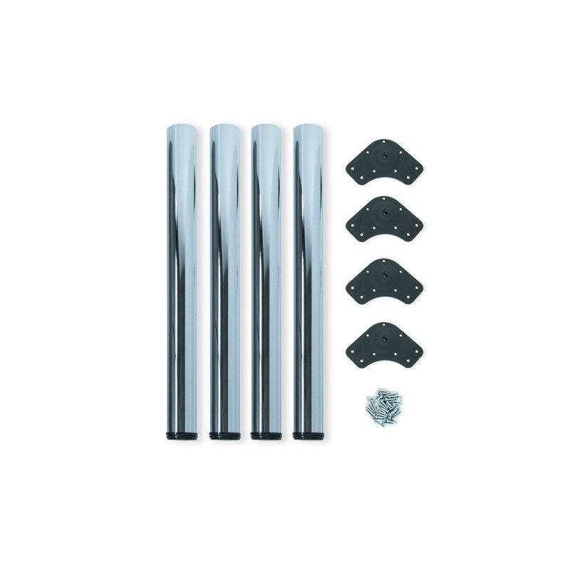 Kit 4 Table Legs Adjustable Emuca D. 60x830mm Chrome Steel