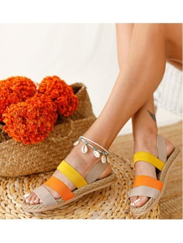 For Women Girl Female Shoes Summer sandals slippers flip flop comfort womens shoes relax elegant stripes colorful