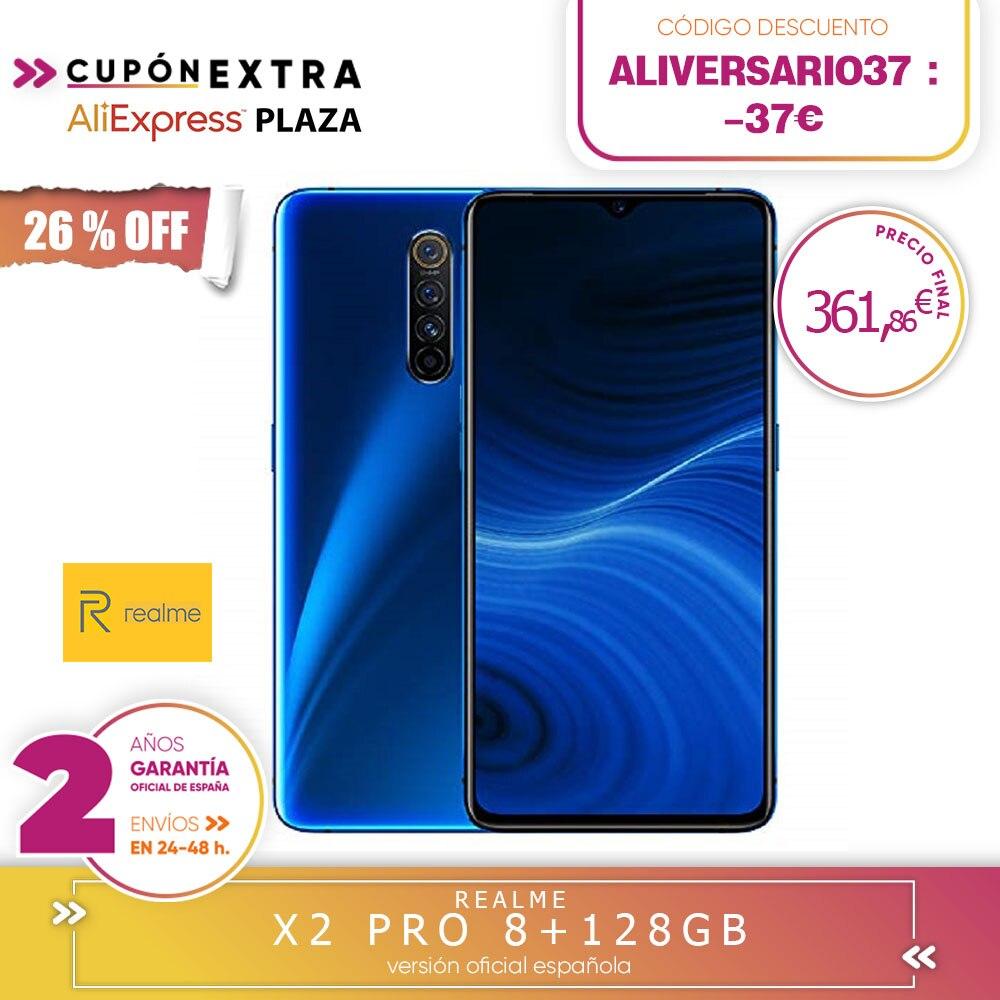 [Garantia oficial da versão espanhola] realme x2, x2 pro codigo alichollo 26, alichollo30,-26 €,-30 €, 8 gb duros 128 gb rom 6,4 snapsnapsnapdragon