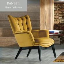FANBEL single sofa lounge chair chesterfield wood frame luxury