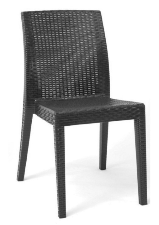 Chair GLADY, Stackable, Polypropylene Anthracite
