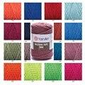 Yarnart веревка макраме 3 мм 3 слоя витая нить шнур цветная ручная работа домашние Свадебные аксессуары подарок Ловец снов