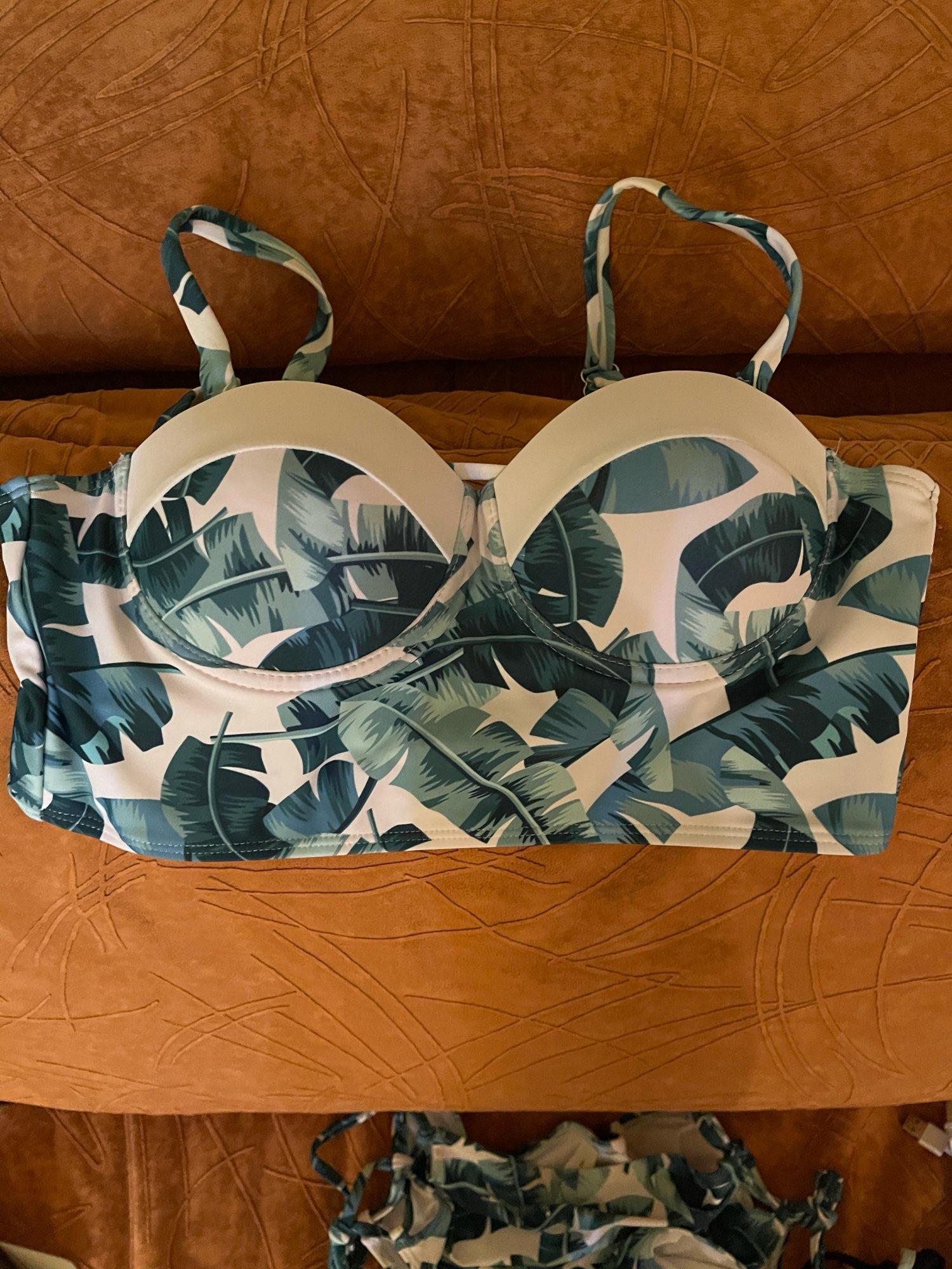 High Waist Swimwear 2021 New Leaf Print Bikinis Women Swimsuit Vintage Retro Bathing Suit Halter Biquini Maillot de bain femme Bikini Set    - AliExpress